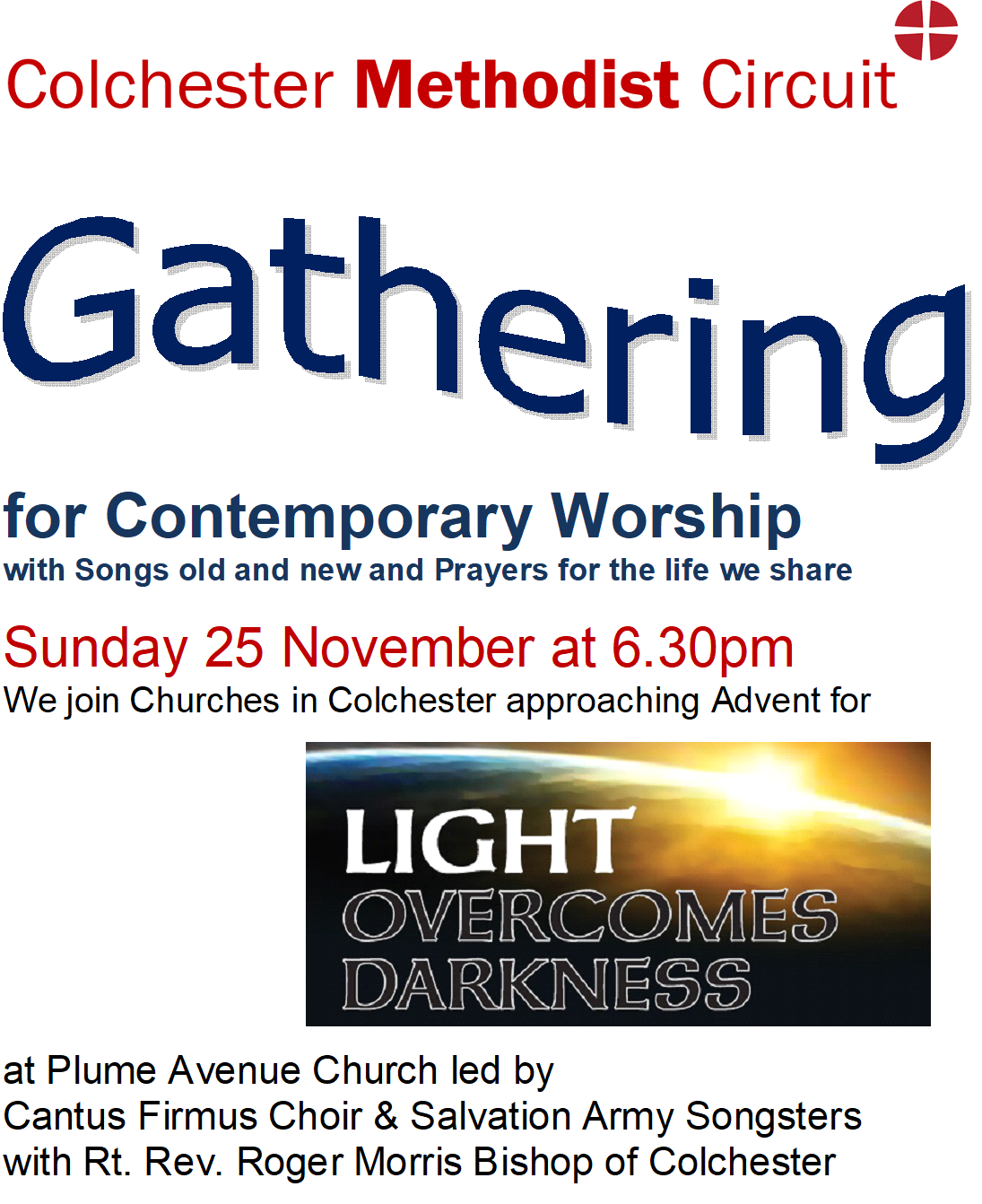 Contemporary Worship at Plume Avenue ight Overcomes Darkness November 25th 2018